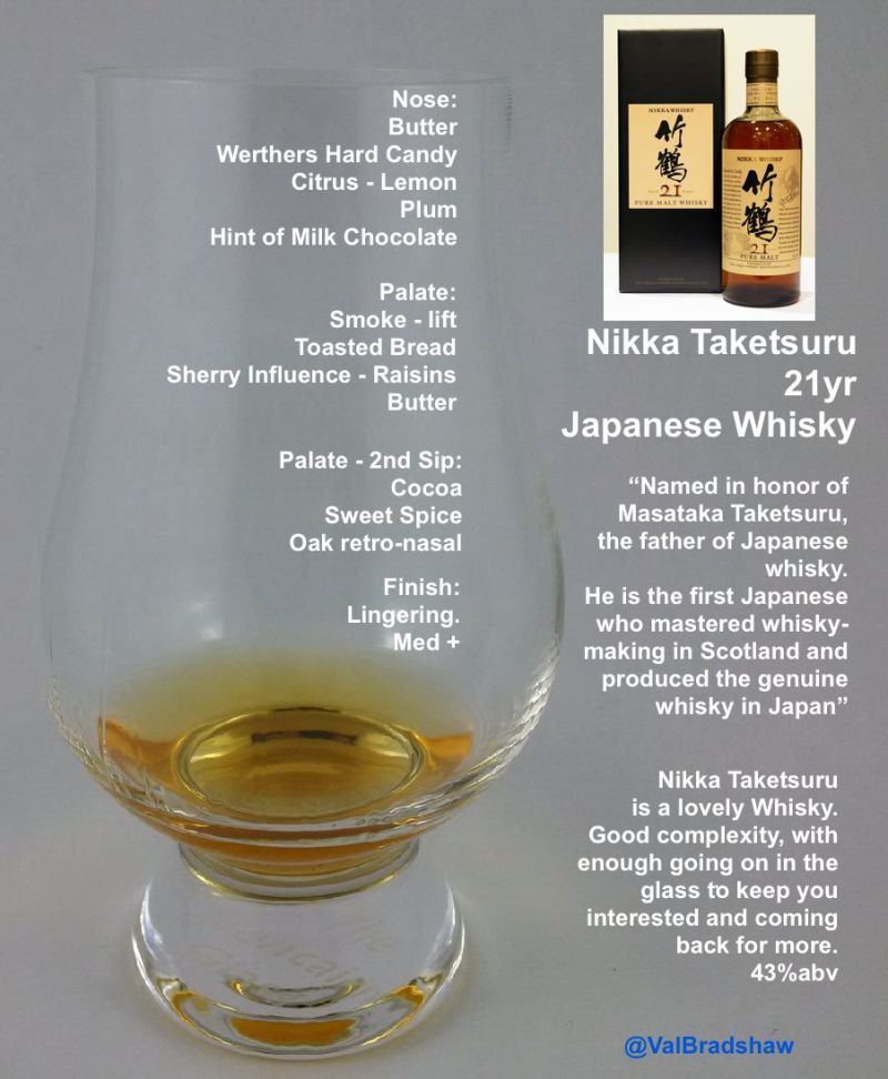 Nikka Taketsuru In the Glass Val Bradshaw