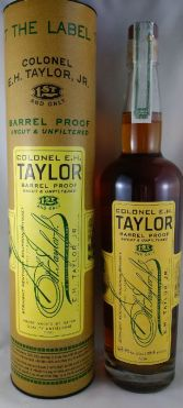 Barrel Proof Taylor bottle with canister