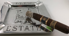 Drew Estate Dojo Dogma back label ashtray