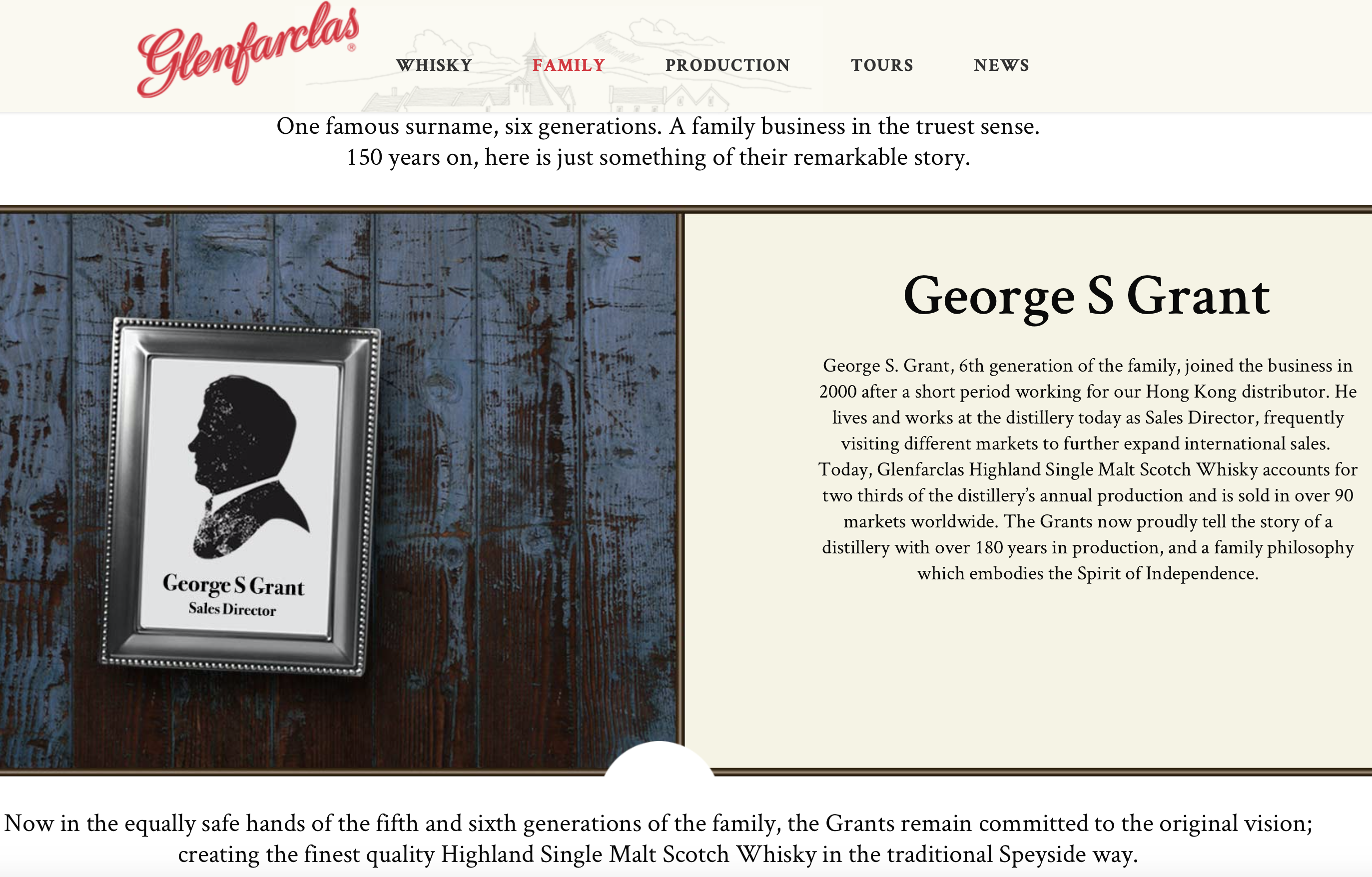 George S. Grant 6th Generation Glenfarclas
